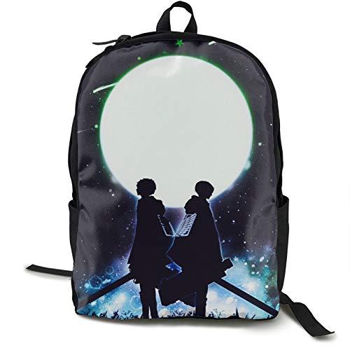 Mochila escolar Attack On Titan, ligera, resistente al agua, mochila informal para portátil de 15.76 pulgadas