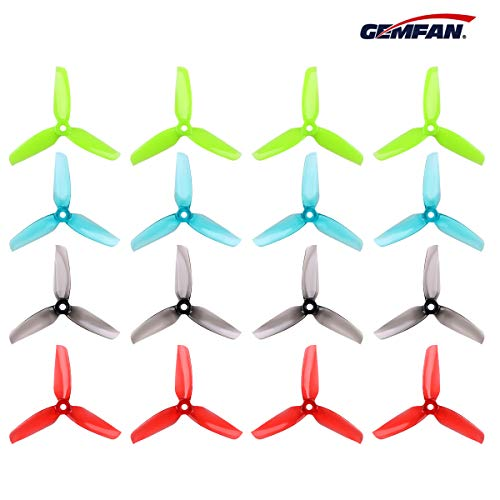 Crazepony 16pcs Gemfan 4032 (Popo) 3-Blade Propellers 4 inch Flash Props Match for 1406-2205 1806 Brushless Motor for FPV Drone Racing Frame