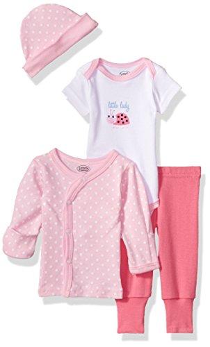 Luvable Friends Unisex Baby Cotton Preemie Layette Set, Little Lady, Preemie