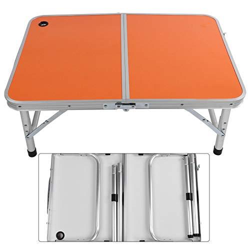 KUIDAMOS Mesa Plegable para Escritorio al Aire Libre Conveniente con diseño de Patas Ajustables, para Mesa de Picnic, Mesa de Juegos, Mesa de Comedor, Mesa para niños/Estudiantes(Orange)