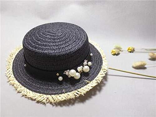 Tony plate Lady Boater Sun Caps Ribbon Flat Top Girls Sombrero de playa de paja Sombrero Panama Sombreros de verano para mujer Sombrero de paja Snapback Gorras