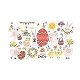 Pegatinas de pared de color 3D de Pascua removibles para decoración de fiestas, decoración del hogar para adornos de día de Pascua, regalos familiares (multicolor)