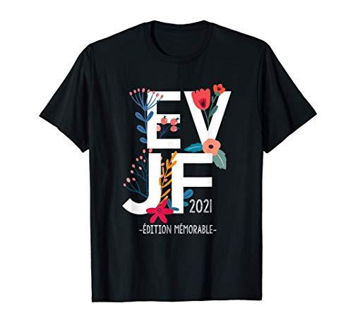 EVJF floral, Enterrement vie jeune fille class,fleurs,2021 T-Shirt