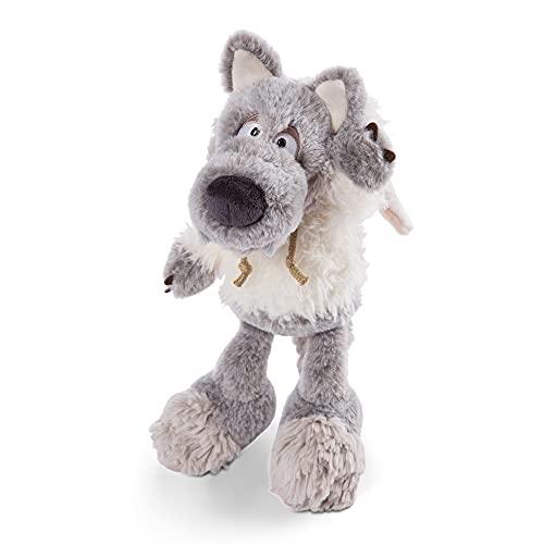 NICI 47080 Kuscheltier Ulvy 25cm – Wolf Plüschtier für Mädchen, Jungen & Babys – Flauschiges Stofftier zum Kuscheln & Spielen – Kuscheliges Schmusetier, Grau/Weiß, 25 cm