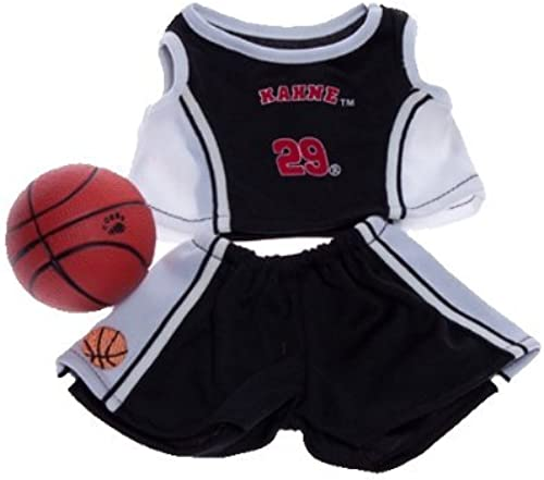 Envio gratis en todas las ordenes negro and blanco Basketball Outfit with Ball Fits Most Most Most 8-10 Webkinz, Shining Star and 8-10 Make Your Own Stuffed Animals and Build-A-Bear by Stuffems Toy Shop  connotación de lujo discreta