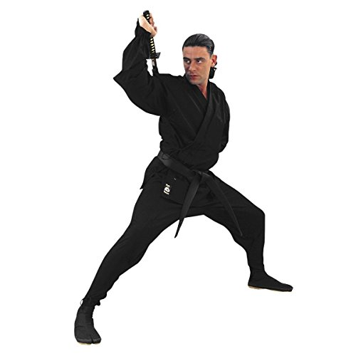 Fuji Mae - Kimono Ninja Negro. Con Refuerzos, talla 6