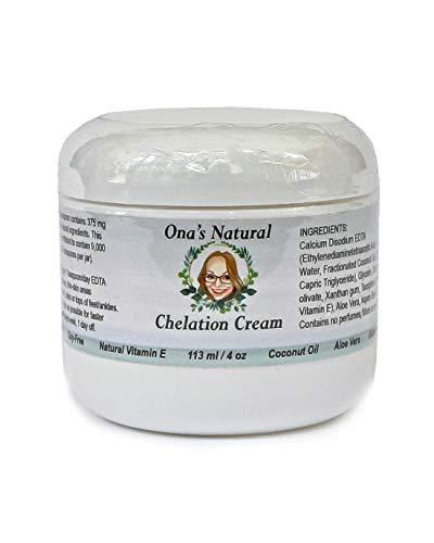 Ona's Natural (EDTA Heavy Metal Detox) Chelation Cream (4 oz. Jar) - 1 Month Supply