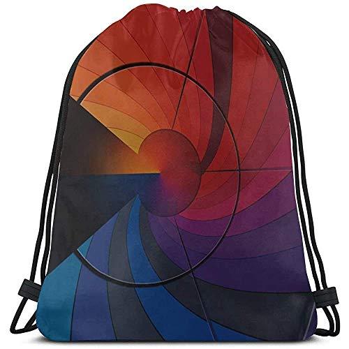 Yuanmeiju Kordeltasche ziehen,Kordelzug Gym Sack,Arrangement Aesthetics Aesthetic Building Nature Ladies String Pull Bag Sport Beach Bag Backpacking String for Travel,Outdoor,Gym