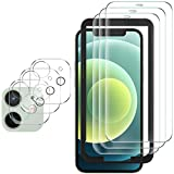 GESMA 3 Pezzi Vetro Temperato Compatibile con iPhone 12, 3 Pezzi Pellicola Fotocamera Protezione Lente Pellicola Posteriore, Strumento per Una Facile Installazione
