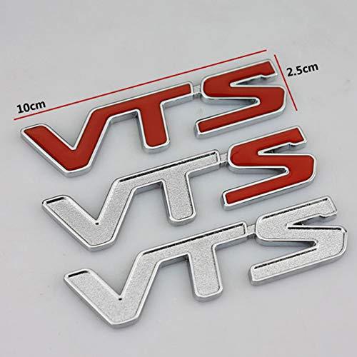 None/Brand Logo per Auto Adesivi per Auto in Metallo 3D Vts Distintivo Stemmi Emblemi Decalcomanie del Tronco per C-Itroen C2 C3 C4 C5,Rosso