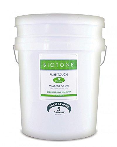 Best Deals! BIOTONE Pure Touch Organics Massage Creme - 5 Gallon Bucket