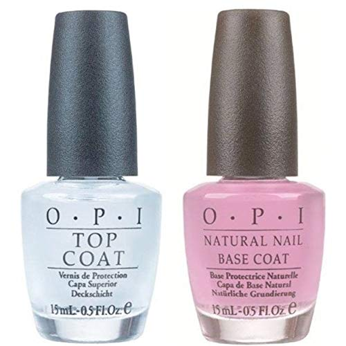 Doppio trattamento smalti top coat e base coat naturale, 2 x 15 ml