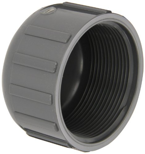 GF Piping Systems PVC Pipe Fitting, Cap, Schedule 80, Gray, 1 Slip Socket by GF Piping Systems