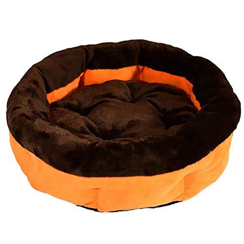Monbedos hondenmand hoogwaardig rond slaaphuisdiernest voor buiten en thuis - zwart en oranje