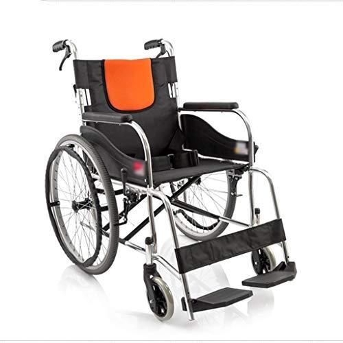 Wheelchair Aluminium Rollstuhl Leicht und Faltrahmen Attendant Antrieb Rollstuhl, geeignet for ältere Menschen/Behinderte