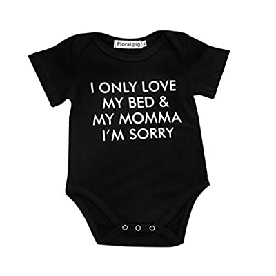Newborn Baby GOT My Mind ON My Mommy Funny Bodysuits Rompers Outfits, Summer Short Sleeve