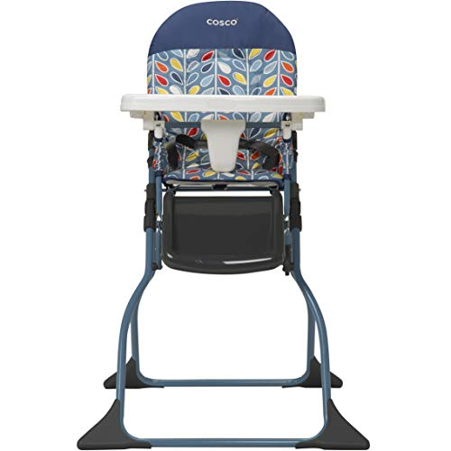 Cosco Simple Fold Full Size High Chair with Adjustable Tray, Leafy
