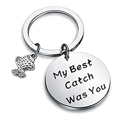 Zuo Bao Fishing Lure Jewelry My Best Catch Was You Fisherman Gifts Funny Keychain For Husband Boyfriend from Zuo Bao