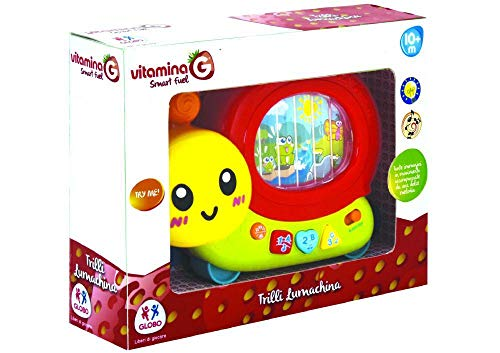Globo- B/O Snail Mobile Try Me W/Light/Sound/TV 2Col (05331), Multicolore (1)
