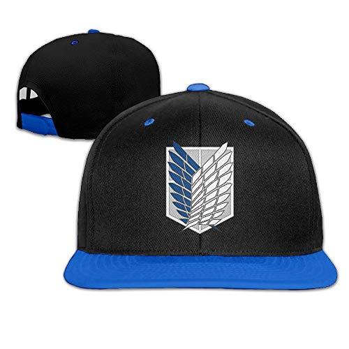 Youaini Attack On Titan Hip Hop Hat Baseball Cap White Royalblue