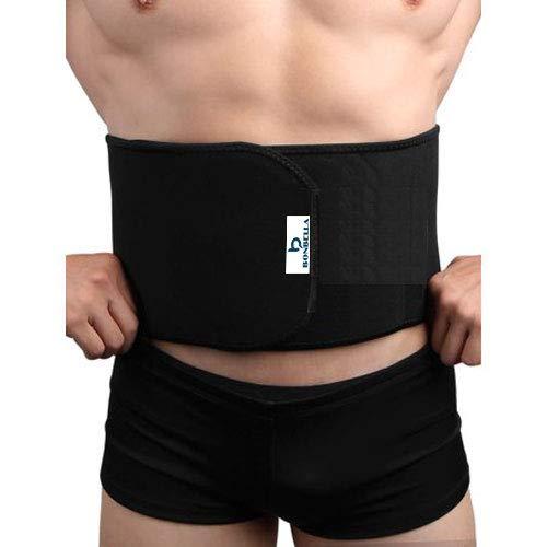 Bonbella Unisex Flexible Slim Waist Stomach Shaper Fitness Yoga wrap Fat Burner Weight Loss Back Pain Gym Belt (Black)