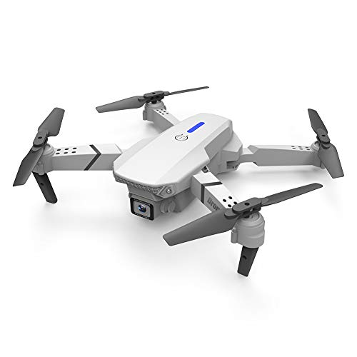 Foldable Drone with 4k/1080p Camera for Kids and Adults, Quadcopter Drone with Remote,GPS Return Home,High-Speed Rotation,Altitude Hold,Headless Mode (White 2-4K, Double Camera-4K)