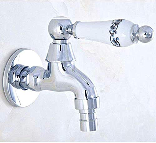 BACKZY MXJP Wasserhahn Wasserhahn Keramik Griff Mopp Pool Wasserhahn/Waschbecken Kaltwasserhahn und Waschmaschine Wasserhahn/Garten Wasserhahn Chrom poliert