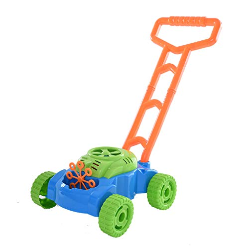 Cobcob Bubble Trolley, Kids Outdoor Activity Bubble Machine Lawn Mower Bubble Blower with Handle Trolley for Toddlers Game, Parties Best for Indoor or Outdoor Play (A)