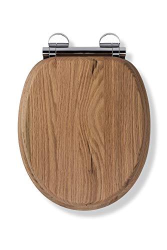 Croydex WL602376H Always Fits Toilet Seat , Solid Oak , 41.5 x 36.5 x 6 cm