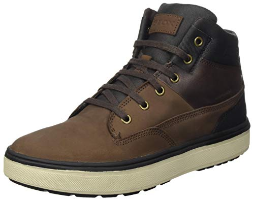 Geox J Mattias B Boy ABX Chukka Boot, Braun (Coffee/Black), 37 EU