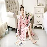 Handaxian Pijama de Franela + camisón para Mujer Pijama de Felpa Gruesa de Invierno Pijama para niñas Suave 2 Piezas