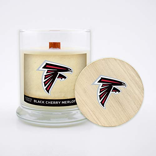 Meadow Showers Worthy Promo NFL Baltimore Ravens Gifts 8oz Scented Candle Soy Wax w//Wood Wick and Lid