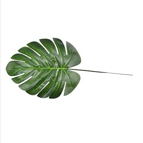 Ybqy 10 stks Nep Faux Kunstmatige Tropische Palm Bladeren Groen Monstera Bladeren voor Thuis Keuken Party Decoraties Handcrafts bruiloft DIY