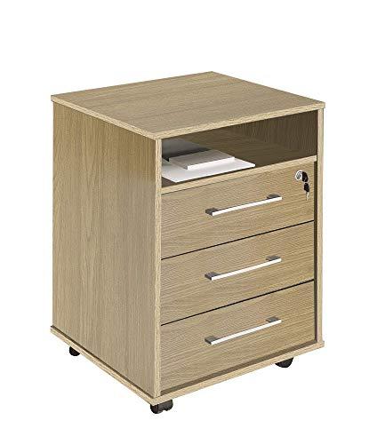 intra-disa 9003 – ladekast voor op kantoor, eikenkleur