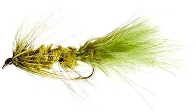 Flies Direct Wooly Bugger Olive Assortment 1 Dozen Trout Fishing Flies
