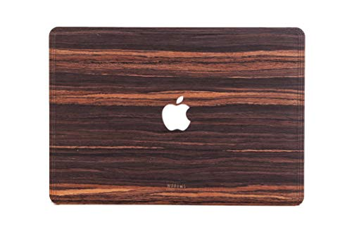 WOODWE Real Wood Skin Sticker Sticker Sticker voor Mac Top Cover Pro 15 | With CD Drive