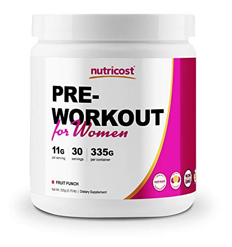 Nutricost Pre-Workout Powder for Women Fruit Punch (30 Serv)