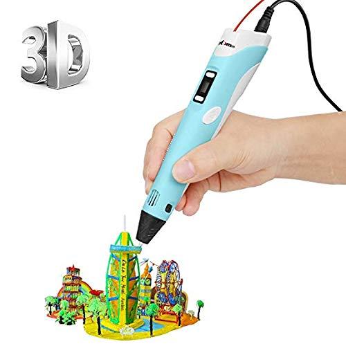 ohCome [Stampante 3D Penna con Schermo LCD] 3D Stereoscopico della Penna di Stampa Disegno di 3D Doodling Pittura + Modeling + Arts + Crafts Stampa, Compatibile con 1.75mm PLA/ABS Filaments Stampante