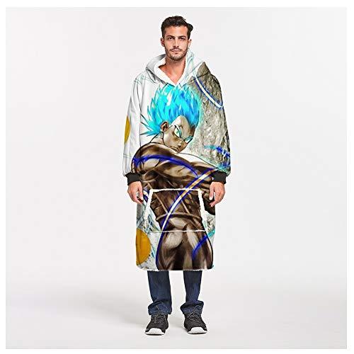 FUFU Mantas y mantitas Manta con capucha, con mangas y bolsillos de gran tamaño usable Sherpa capucha manto, suave Un tamaño cupo Manta Todos Micromink inversa Sherpa con capucha, con capucha for homb