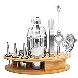 11pcs Set di agitatori per Cocktail in Acciaio Inossidabile Mixer Kit di Strumenti per Barman Base di bamb霉 a Forma di Pesce Miscelazione di Vino Bicchieri per Bevande Aumenta l'umore della Vita