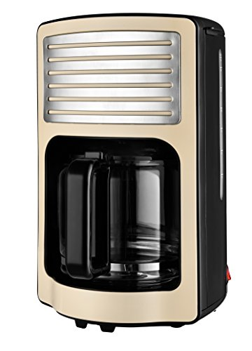 Team Kalorik ekspres do kawy z filtrem, pojemność 1,8 l, szklany dzbanek, na maks. 15 filiżanek, 1000 W, kremowo-biały, TKG CM 2500