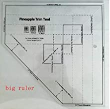 YICBOR Non-Slip The Pineapple Ruler New Quilting Ruler Pineapple Trim Tool MST-03 (Big)