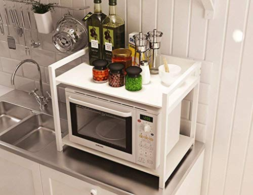 MEIXIAN Speicherplatzierung Küchenregal Multi - Regal Mikrowelle Regal 2 - Layered Multifunktionales Regal Gewürzregal (Size : 60 * 40 * 47cm)