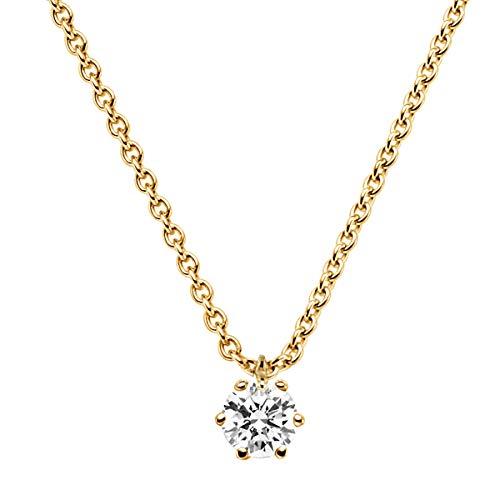 trendor Brillant 0,20 Karat Anhänger mit Halskette Gold 585 532655