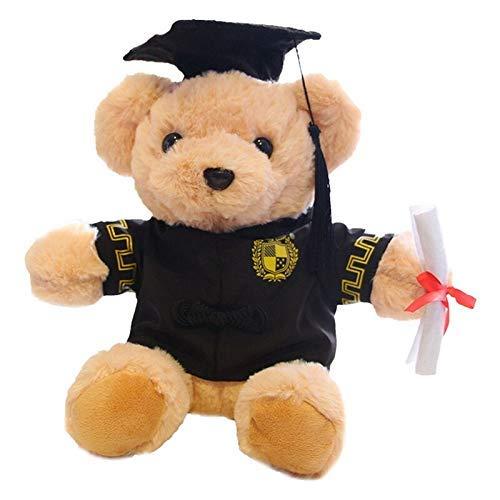 JKLI Kuschel 25cm Niedlich Dr. Bear Plüsch Gefüllte Weiche Kawaii Bärenpuppen Abschlussgeschenke Für Kinder Kinder Mädchen Wangwu