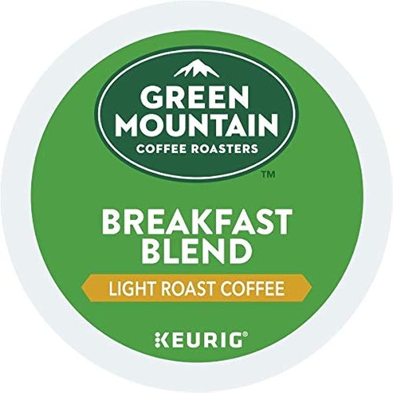 Green Mountain Coffee Roasters Breakfast Blend Single Serve Coffee K Cup Pod Light Roast 12 Count Pack Of 6