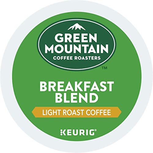Green Mountain Coffee Roasters Breakfast Blend Single-Serve Keurig K-Cup Pods, Light Roast Coffee, 72 Count