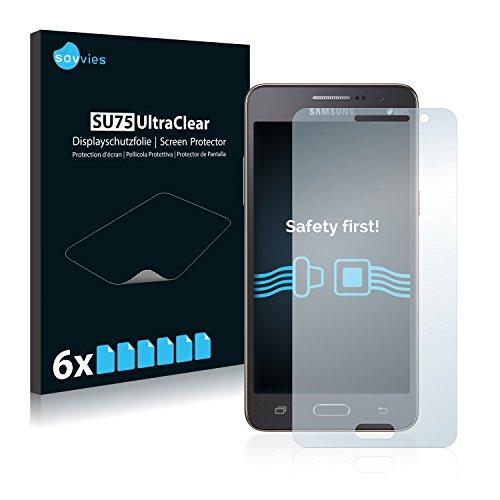 Savvies 6X Schutzfolie kompatibel mit Samsung Galaxy Grand Prime SM-G530H Bildschirmschutz-Folie Ultra-transparent