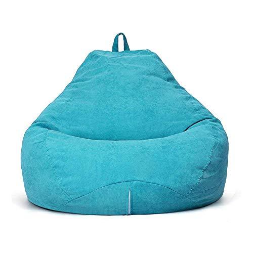 AMGJ Funda de Puf(sin Relleno), Funda para Sillón Puff de Tela de Pana Cubierta para Sofá para Adultos y Nios 85x105cm,Sky Blue