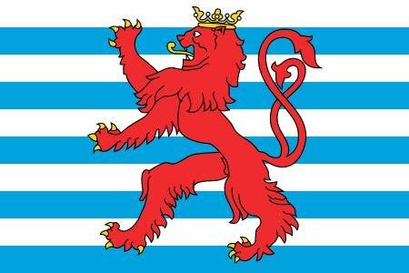 Michael & Rene Pflüger Barmstedt 8,4 x 5,4 cm Autoaufkleber Fahne von Luxemburg mit Löwe Sticker Aufkleber fürs Auto Motorrad Handy Laptop